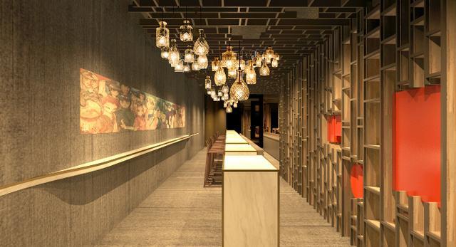 Projekt wstępny restauracji japońskiej w Singapurze  autor: Dymitr Malcew